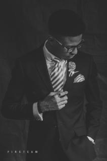 Pako Lorente Tie and Arare Suit x Louis Vuitton glasses