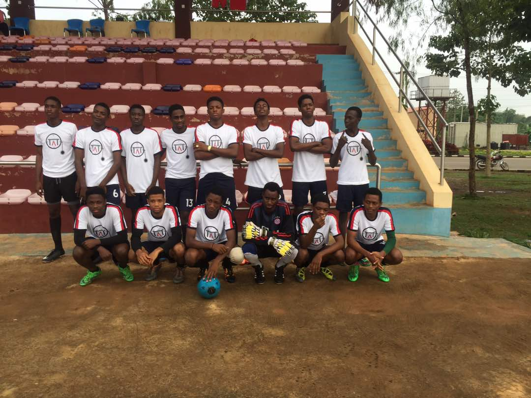 THE ABUAD TIMELINE BLOG SPONSORED 300 LEVEL LAW FOOTBALL TEAM, AFE BABALOLA UNIVERSITY LAUNCH JERSEY WITH VICTORY